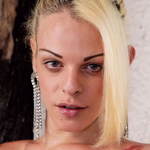 Giovana secret. Lustful blonde tranny hottie!